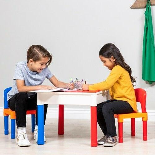 Best Products 3-in-1 Kids Activity Set Building Table