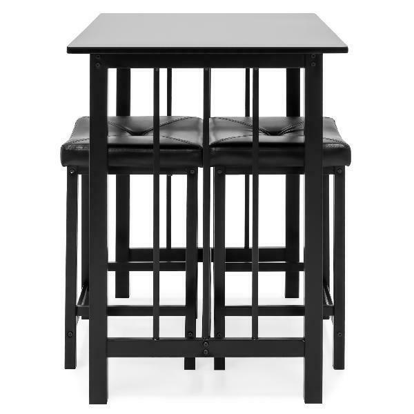 Best Products Counter Dining Set w/ 2 Leather S