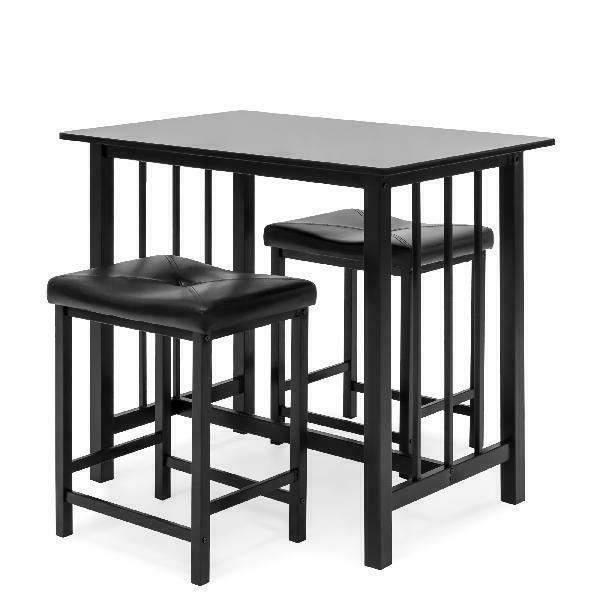 Best Counter Height Dining Table Set w/ Faux Leather