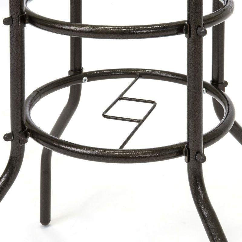 Best Choice Products 32in Round TemperedGlass Patio Bistro Table w/