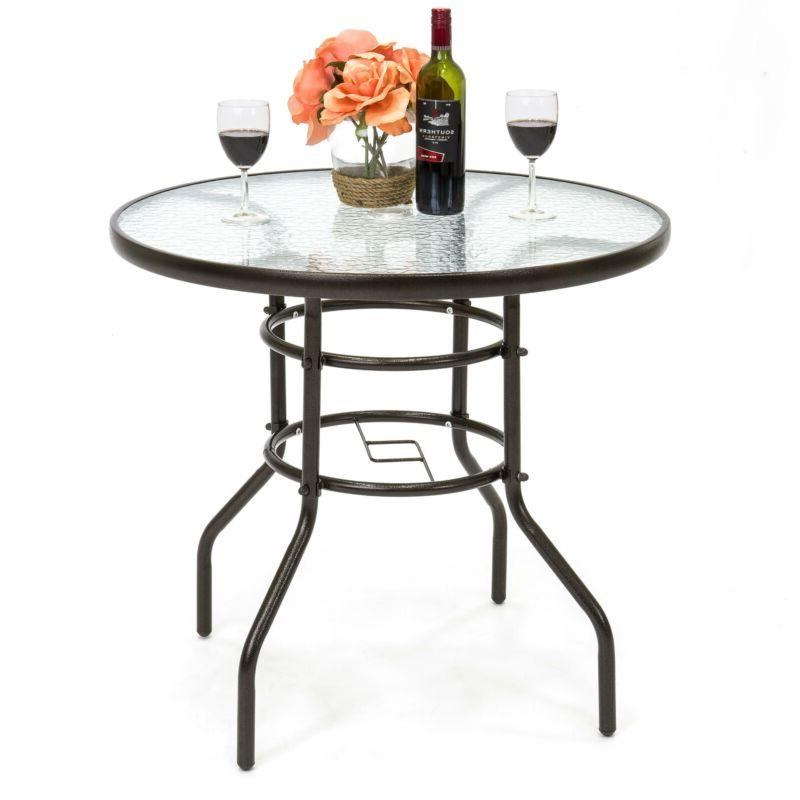 32in round temperedglass patio dining bistro table