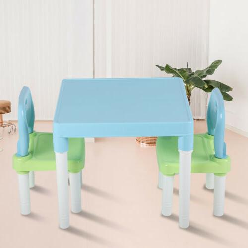 3Pcs Chairs Set Children Boys and Study Table Activity