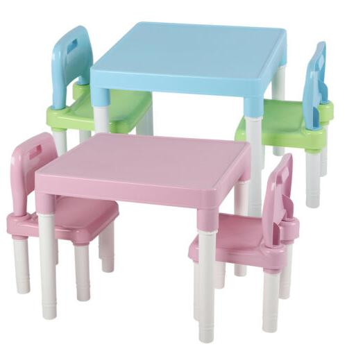 3Pcs & Chairs Set for Kids Boys Girls Table Activity