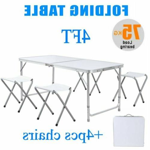 4 ft portable folding table outdoor picnic