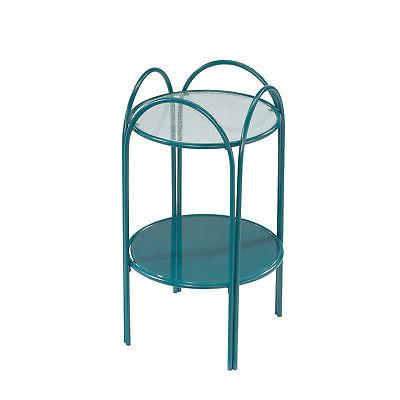423991 coral cape end table teal