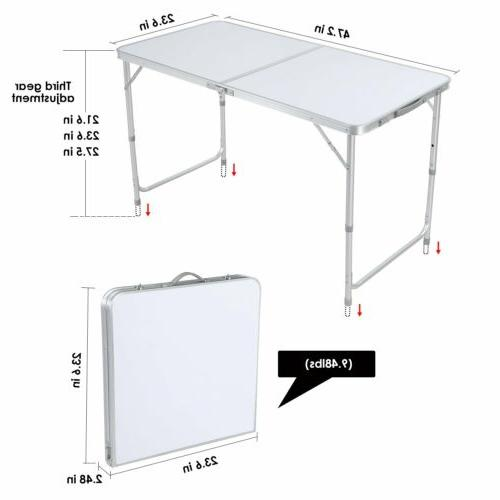 4 Portable Table Picnic Camping Party+4 Chairs