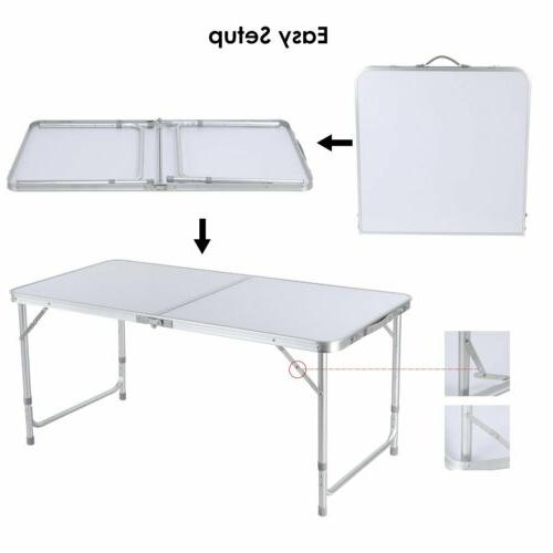 4 Folding Table Picnic Camping Party+4 Chairs