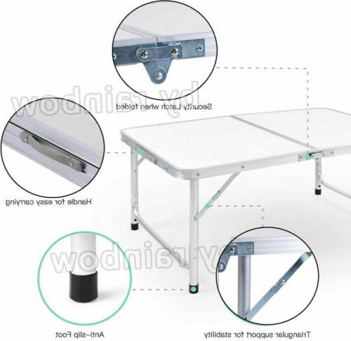 4FT Table Indoor Party Camp Aluminum