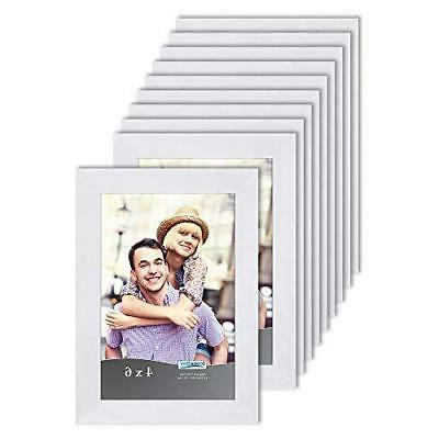 4x6 picture frame set white 10 pack