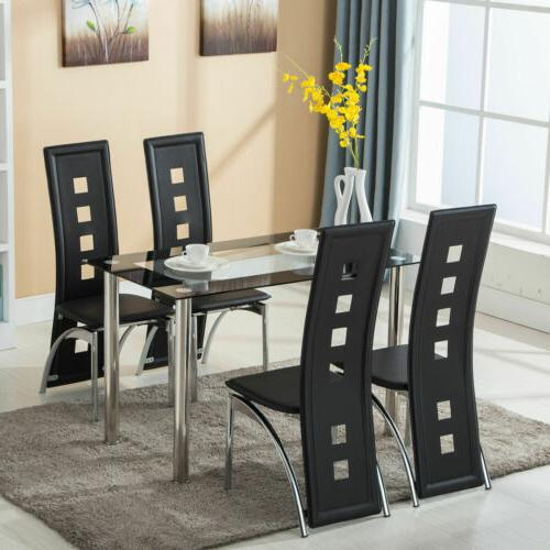 5 Piece Dining Set Table And 4 Home Room Furniture