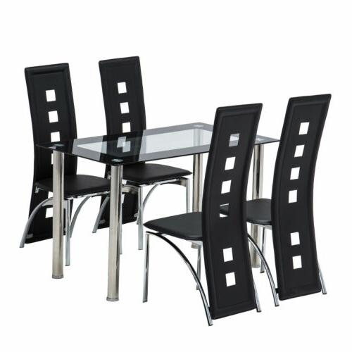 5 Glass Dining Table 4 Room Breakfast