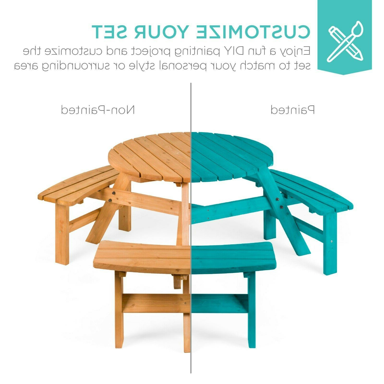 Best Choice Circular Outdoor Picnic Table 3
