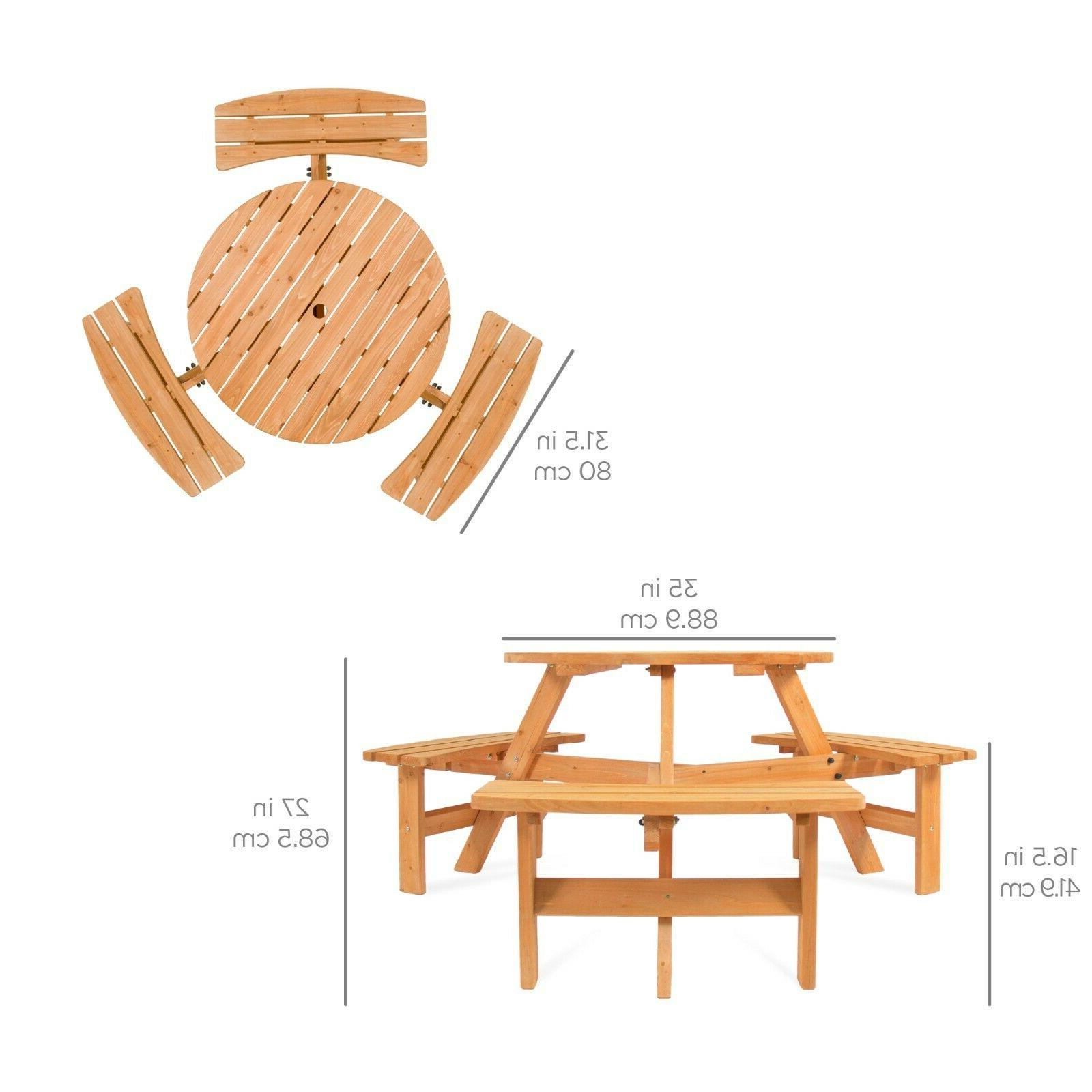Best Choice Products Circular Table 3 Built-in