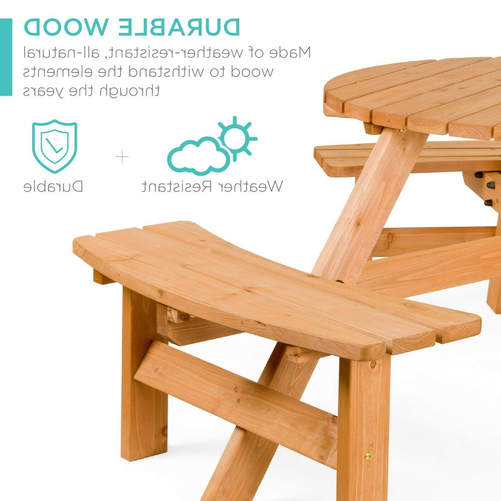 Best Choice 6-Person Circular Table Built-in