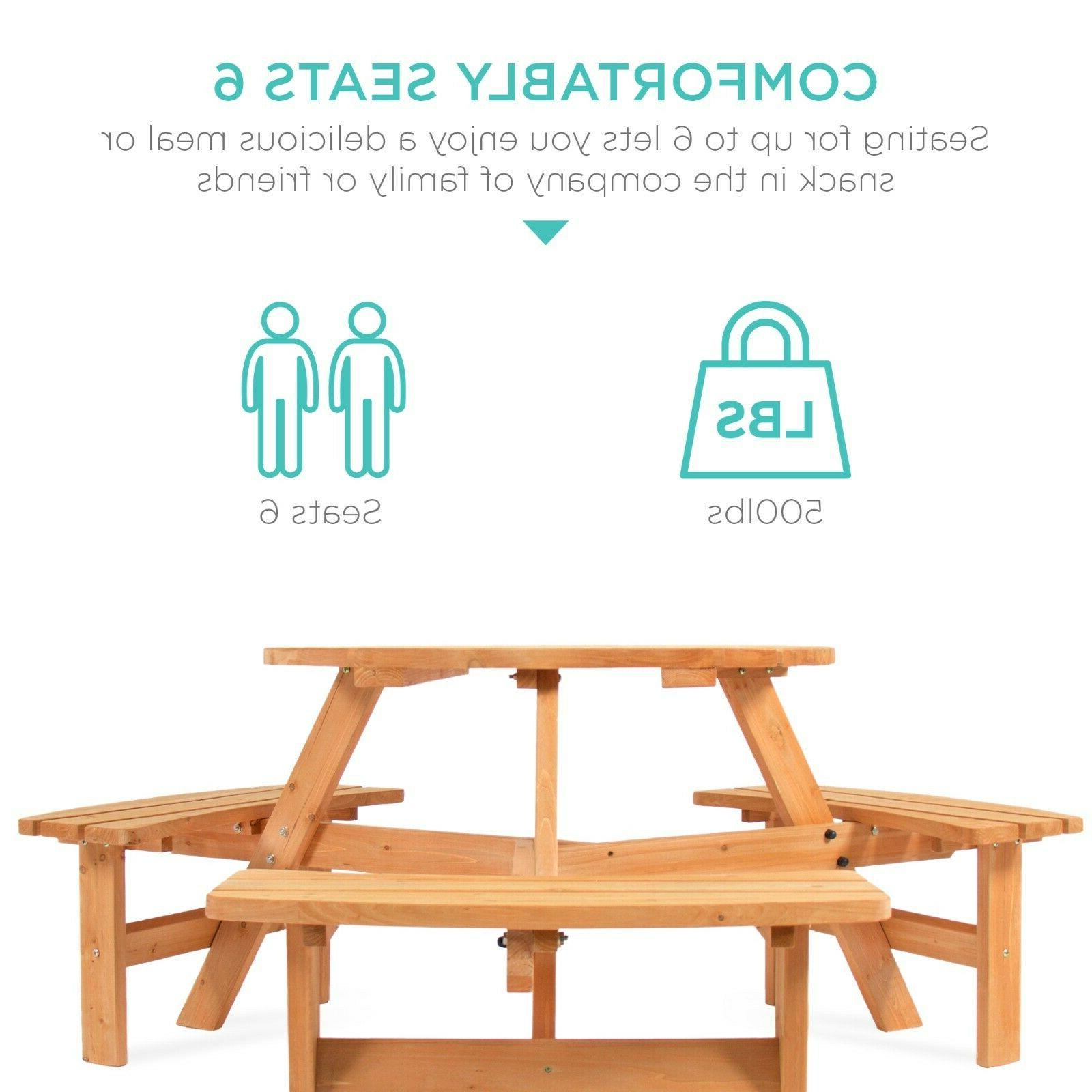 Best Choice Circular Outdoor Table w/ 3