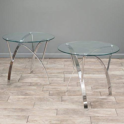 Great Deal Furniture Tempered Glass Round Tables