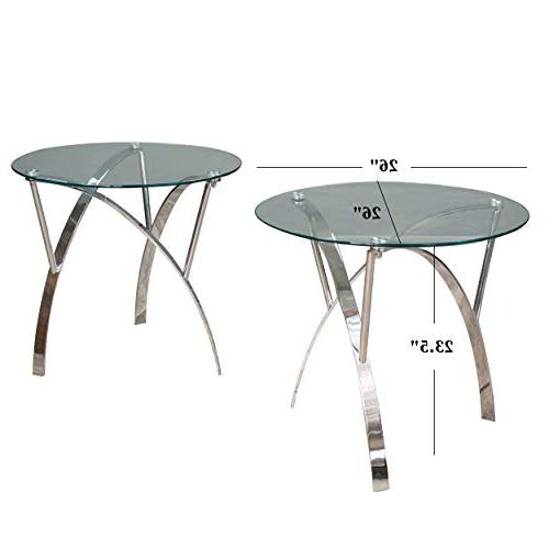Great Deal Furniture Tempered Glass Round