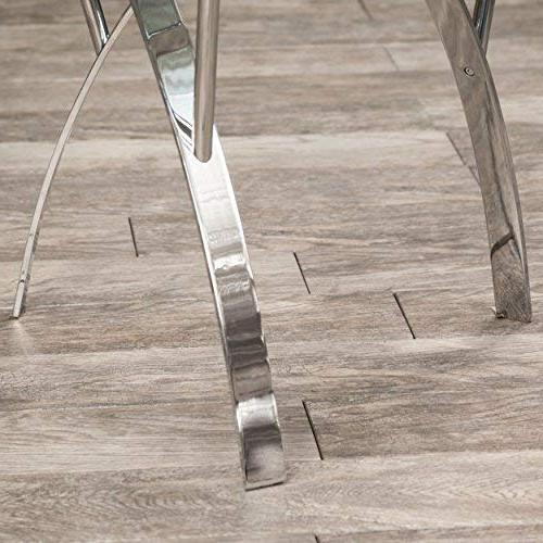 Great Tempered Tables w/Chrome Legs