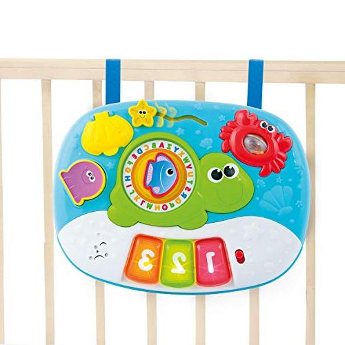Activity Table for Year and 2-in-1 Center. Interactive with Fun Ocean Characters for Toddlers