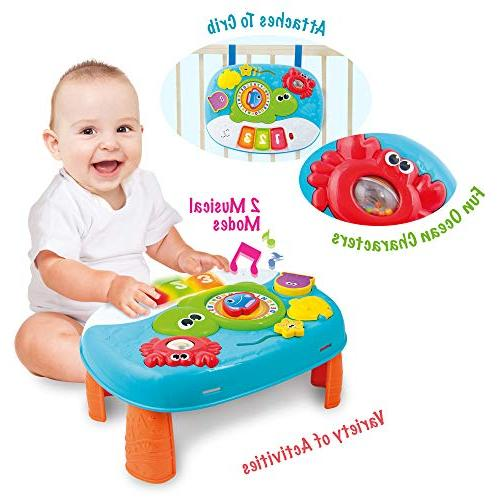Activity Table Year and Up. 2-in-1 Baby Interactive Learning with Fun Ocean Characters for