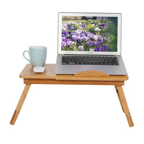 Adjustable Folding Laptop Bed Stand Table