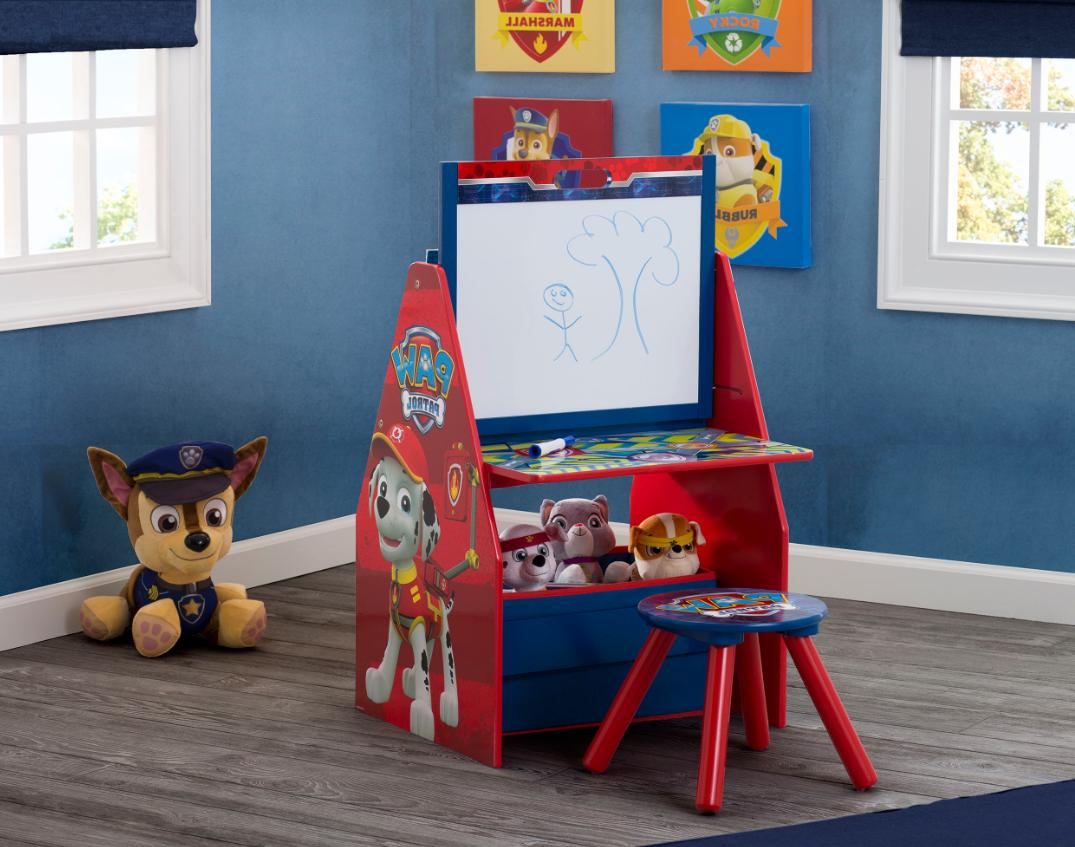 Art Easel Toddlers Kids Desk Table Drawing Storage