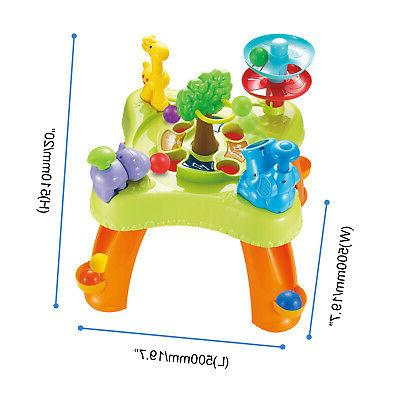 infunbebe Ball Table for Toddlers Multiplayer Learning