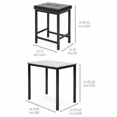 BCP Marble Height Table Set 2
