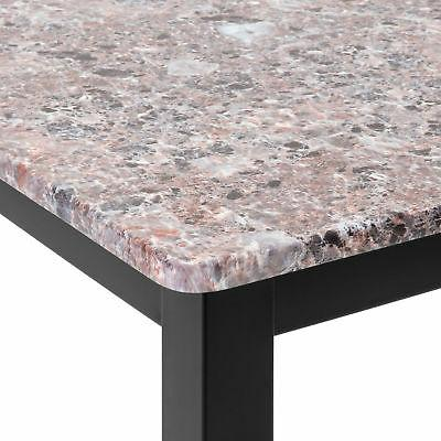 BCP Marble Counter Height Table Dining w/ 2 Stools