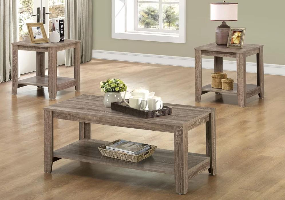 Best Side Table Set For Living Room Farmhouse Two Level Coff