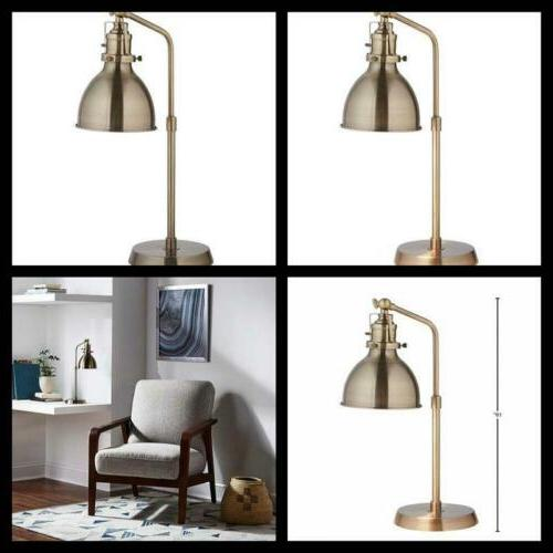 Brass Industrial Table Lamp With Bulb Home Indoor Vintage De