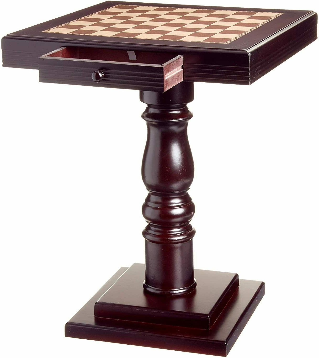 Cherry Wooden Chess Table Top Player Room Furniture