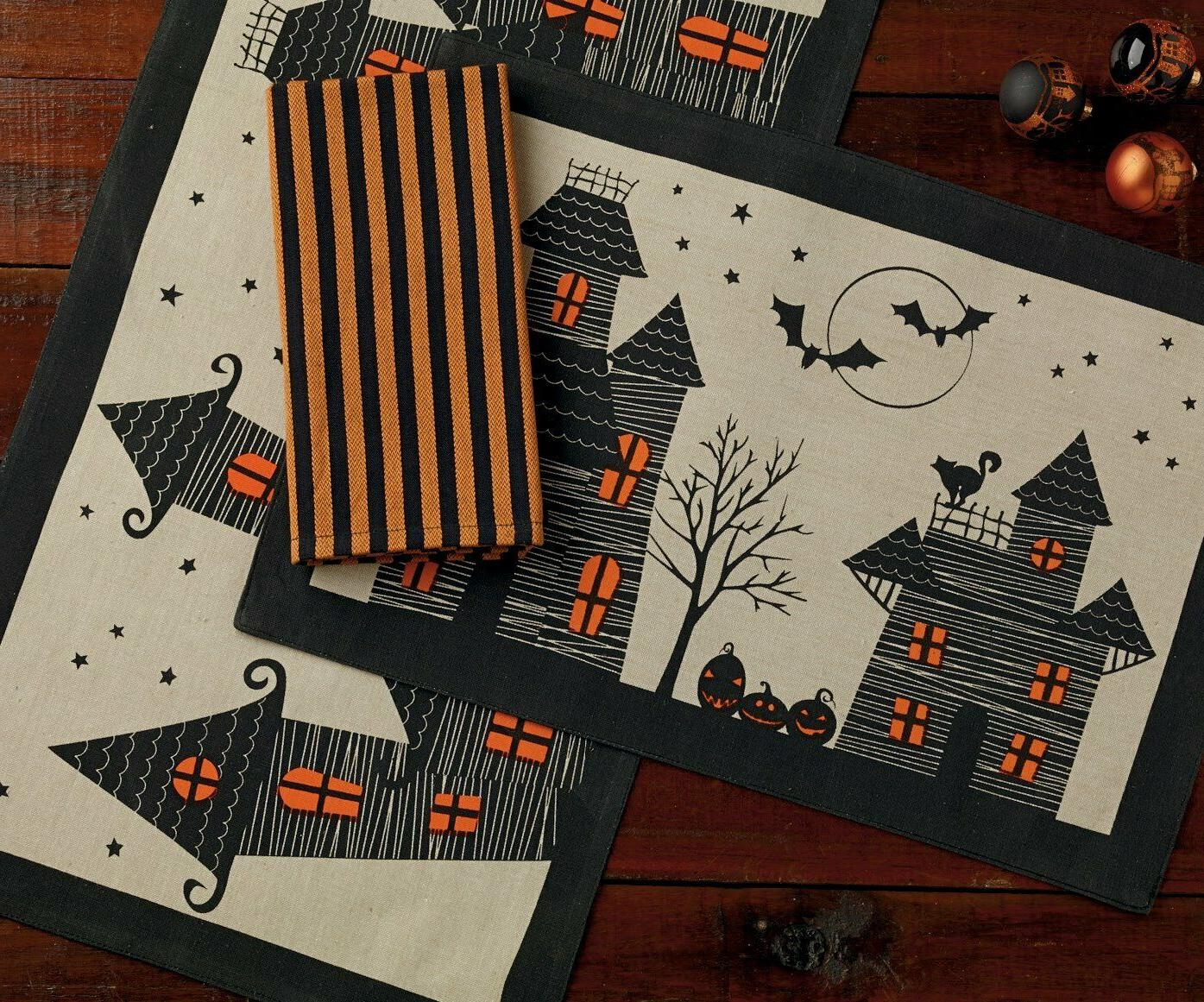 DII Cotton 14x72 Runner and Place Halloween