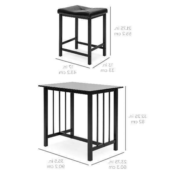 Best 3-Piece Counter Height Dining Set w/ Leather