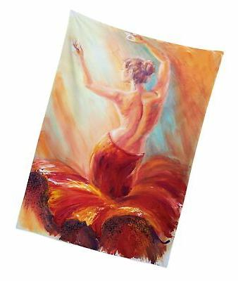 Lunarable Country Outdoor Painting of a Lady Woman's