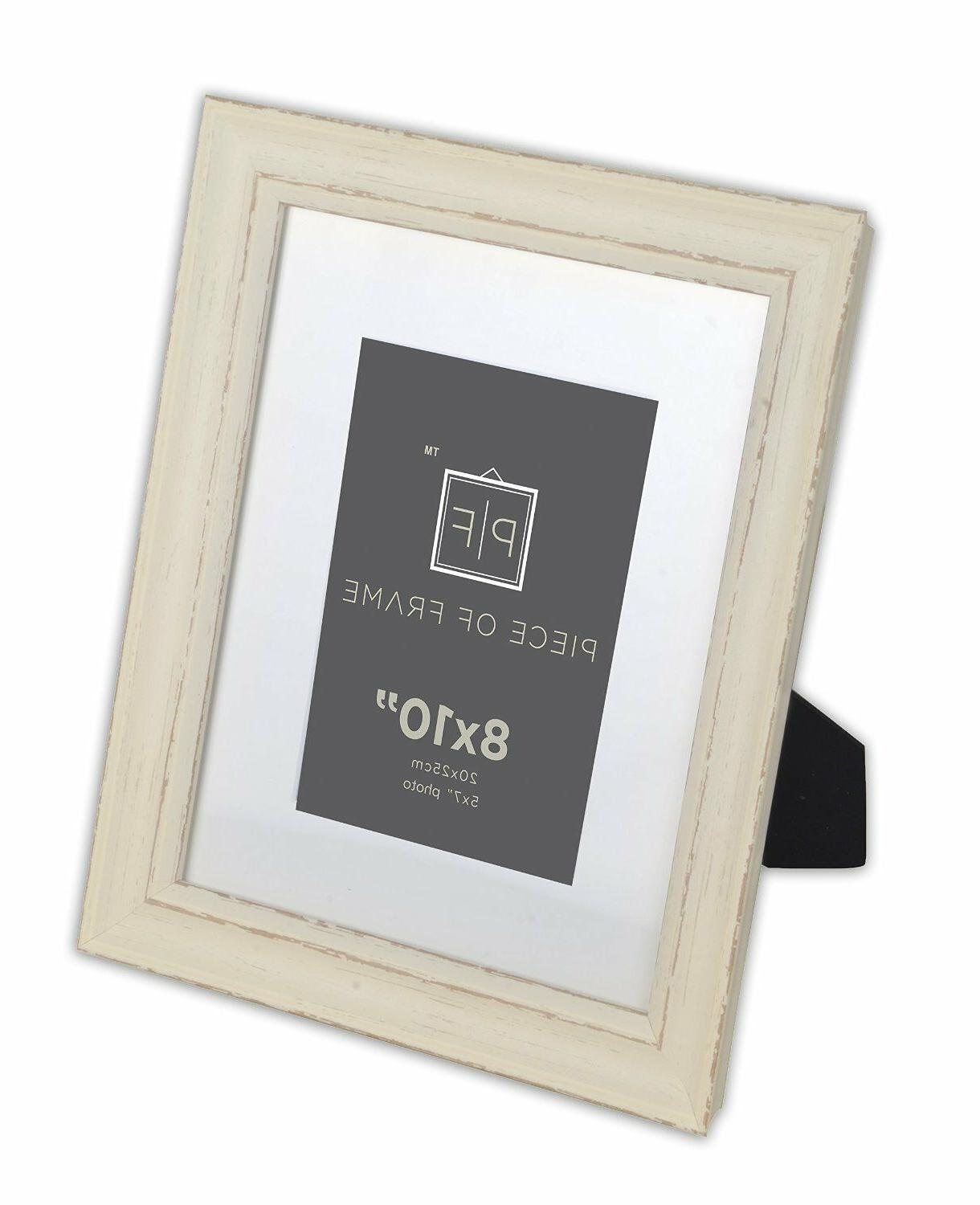 8x10 Frame, Shabby style & mat for 5x7 & Real