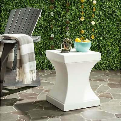 Safavieh Curby Concrete Indoor/ Outdoor Accent Table  Off-Wh