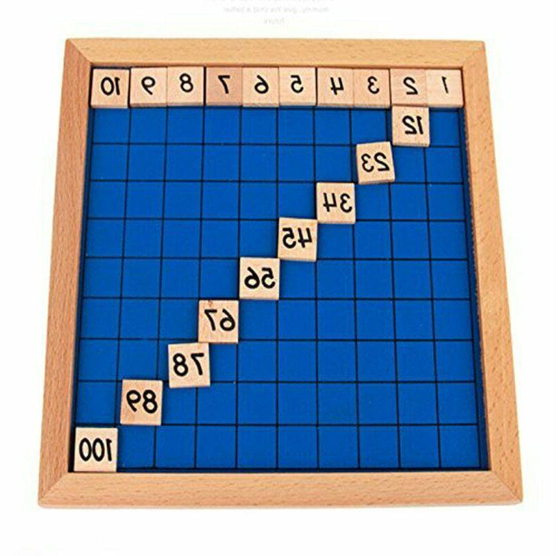 Educational Math Table Toys Wood New