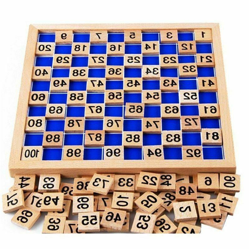 educational math table wooden toys for children