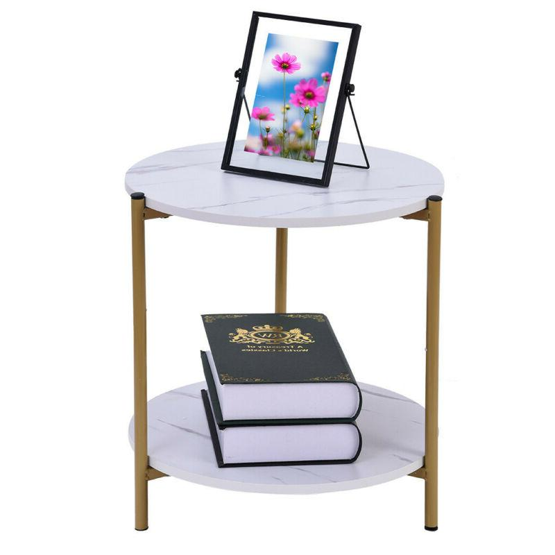 2 End Living Room Coffee Side Table