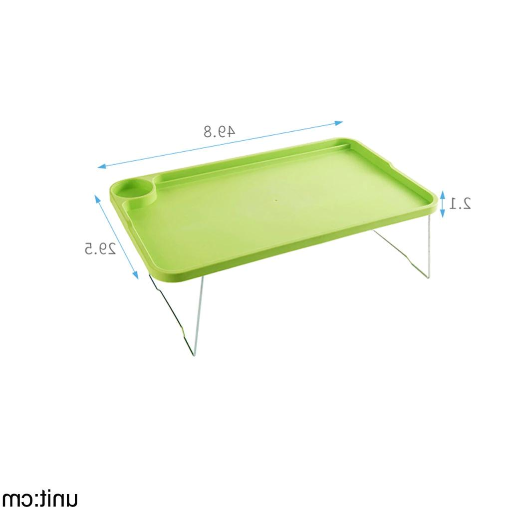 Foldable Tablet Desktop Computer Tray Stand for