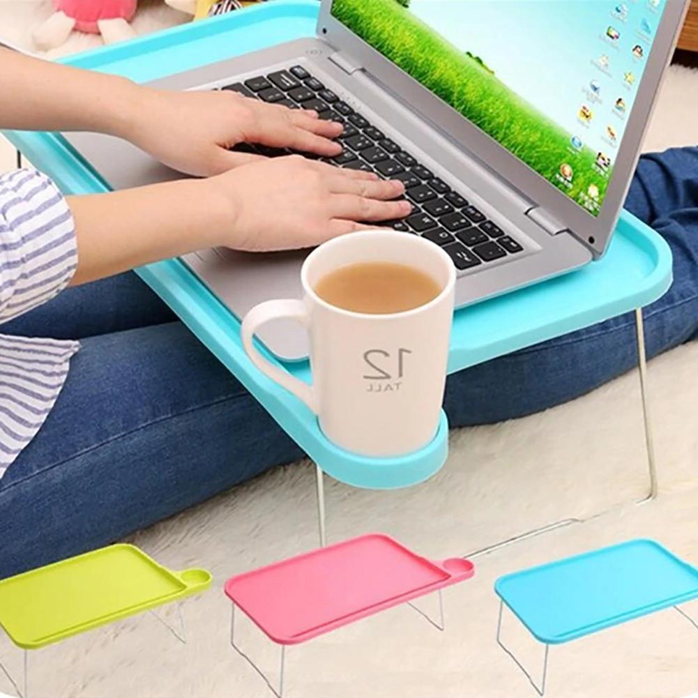 Foldable Portable Desktop Computer Stand for