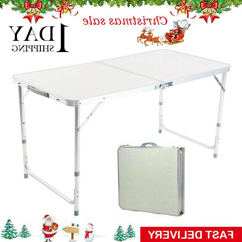 Folding Table Portable Indoor Outdoor BBQ Party Camping Table
