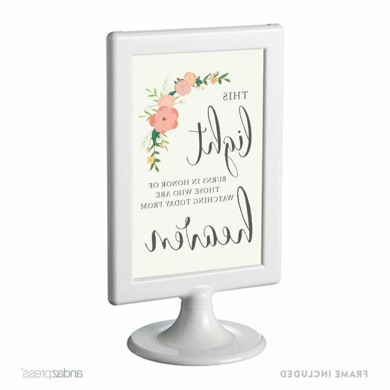 Andaz Press Framed Wedding Party Signs, Floral Roses Print,