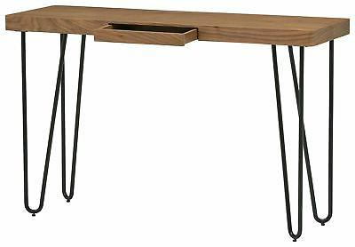 "Rivet Hairpin and Metal 29.5"" Console Table Black"