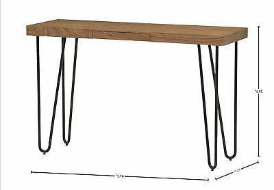 Rivet and Metal Table Walnut and