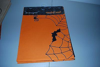 halloween orange spider web bats table runner