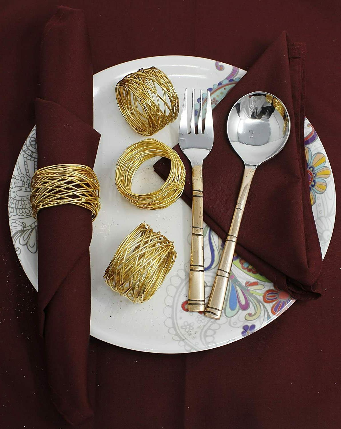 Napkin Rings Set of 6 Holder Table Parties