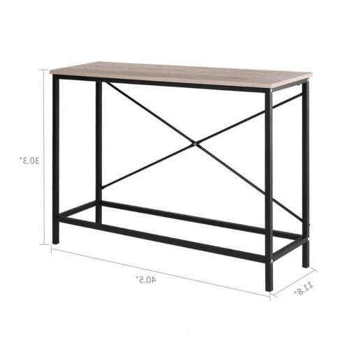 Wood Console Sofa Accent with Stand Entryway Hall