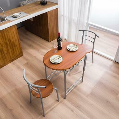 Home 3 Dining Table 2 Chairs Bistro Furniture